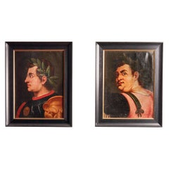 Pair of Italian Grand Tour Portraits of Emperors