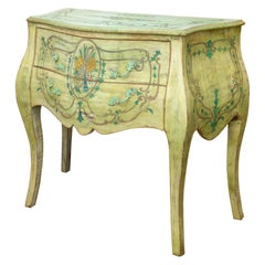 Pair of Italian Green Painted Commodes