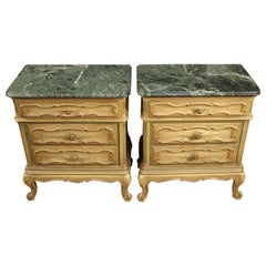 Pair of Italian Lacquered Bedside Tables, 20th Century