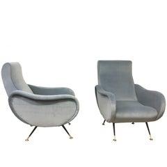 Pair of Italian Lady chairs Marco Zanuso Style, Italy, 1950