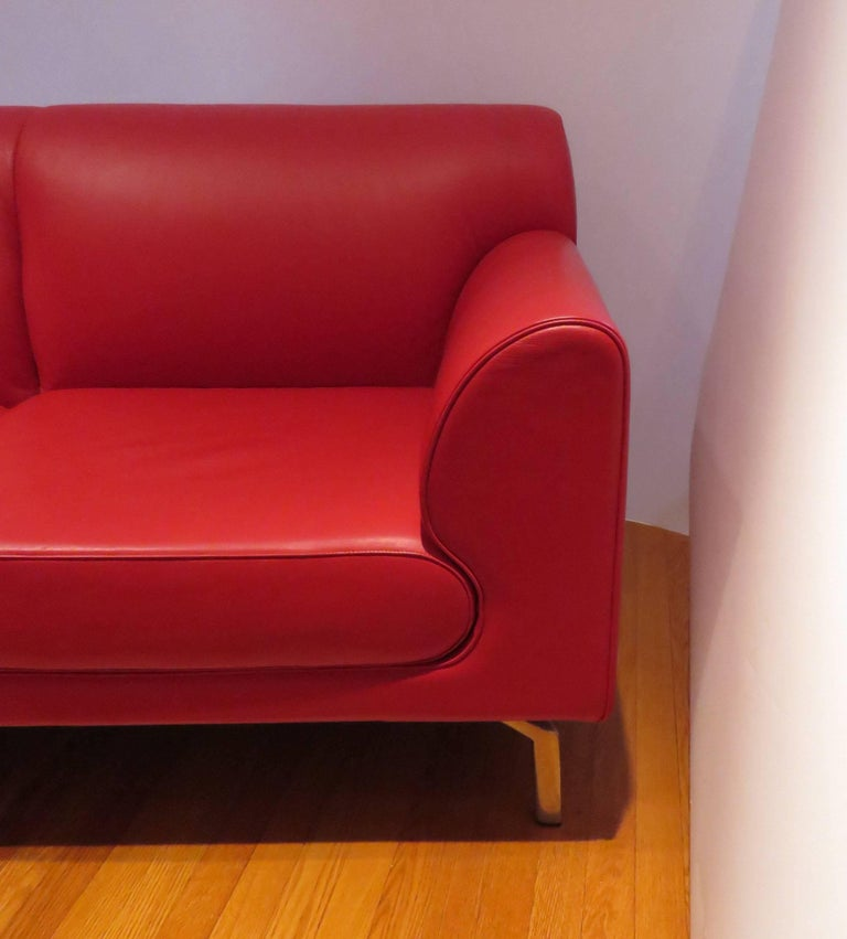 Pair of Italian Leather Poltrona Frau Modular Sofas 2