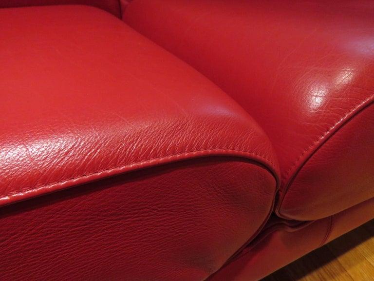 Pair of Italian Leather Poltrona Frau Modular Sofas 3