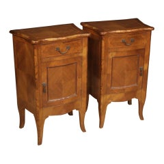 Pair of Italian Louis XV Style Bedside Tables, 20th Century