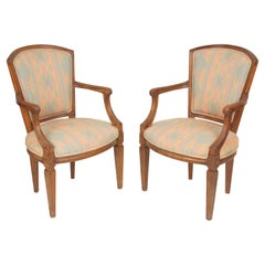 Pair of Italian Louis XVI Style Armchairs