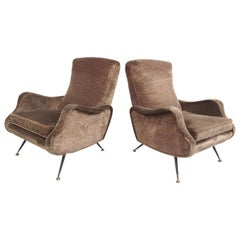 Pair of Italian Lounge Chairs after Marco Zanuso