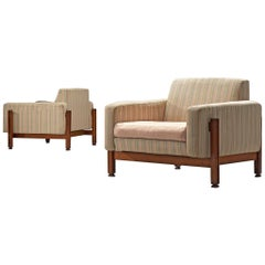 Pair of Italian Lounge Chairs, Attributed to Ico Parisi