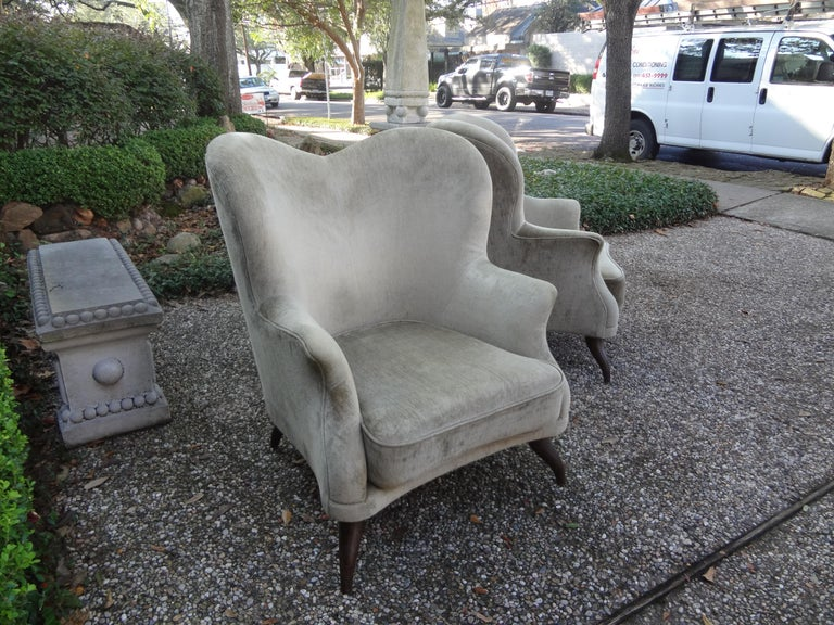Pair of Italian Lounge Chairs Attributed to Paolo Buffa For Sale 5