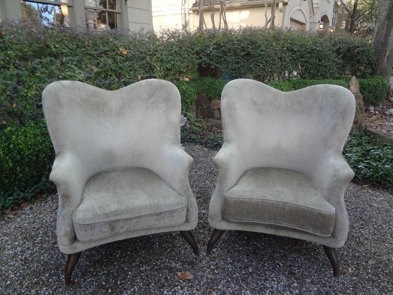 Pair of Italian Lounge Chairs Attributed to Paolo Buffa For Sale 6