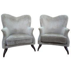 Pair of Italian Lounge Chairs Attributed to Paolo Buffa