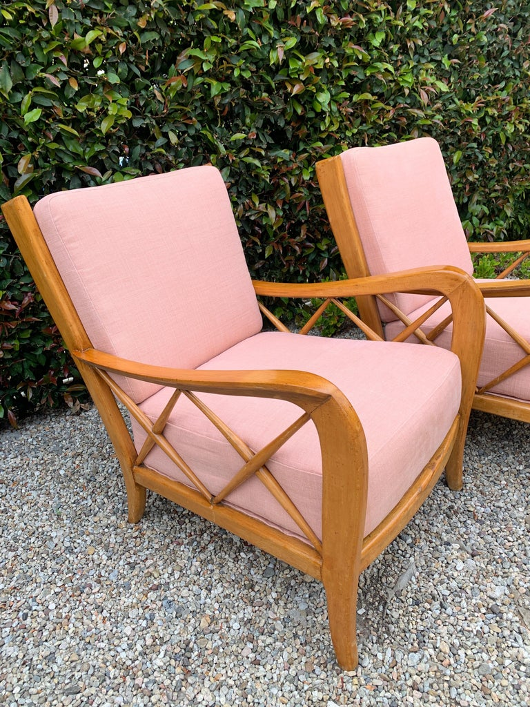Pair of Italian Lounge Chairs by Paolo Buffa For Sale 5