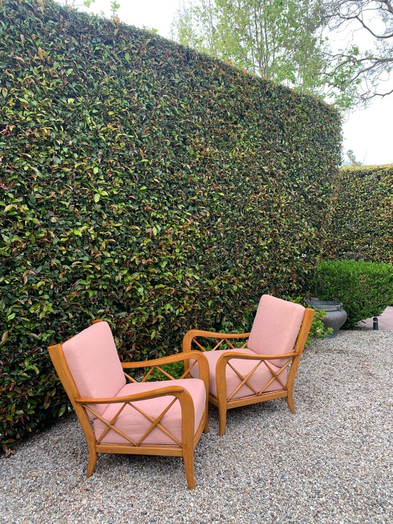 Pair of Italian Lounge Chairs by Paolo Buffa In Good Condition For Sale In Los Angeles, CA