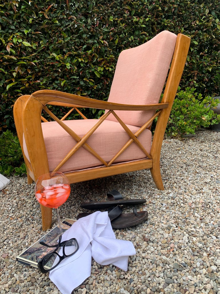 Pair of Italian Lounge Chairs by Paolo Buffa For Sale 2