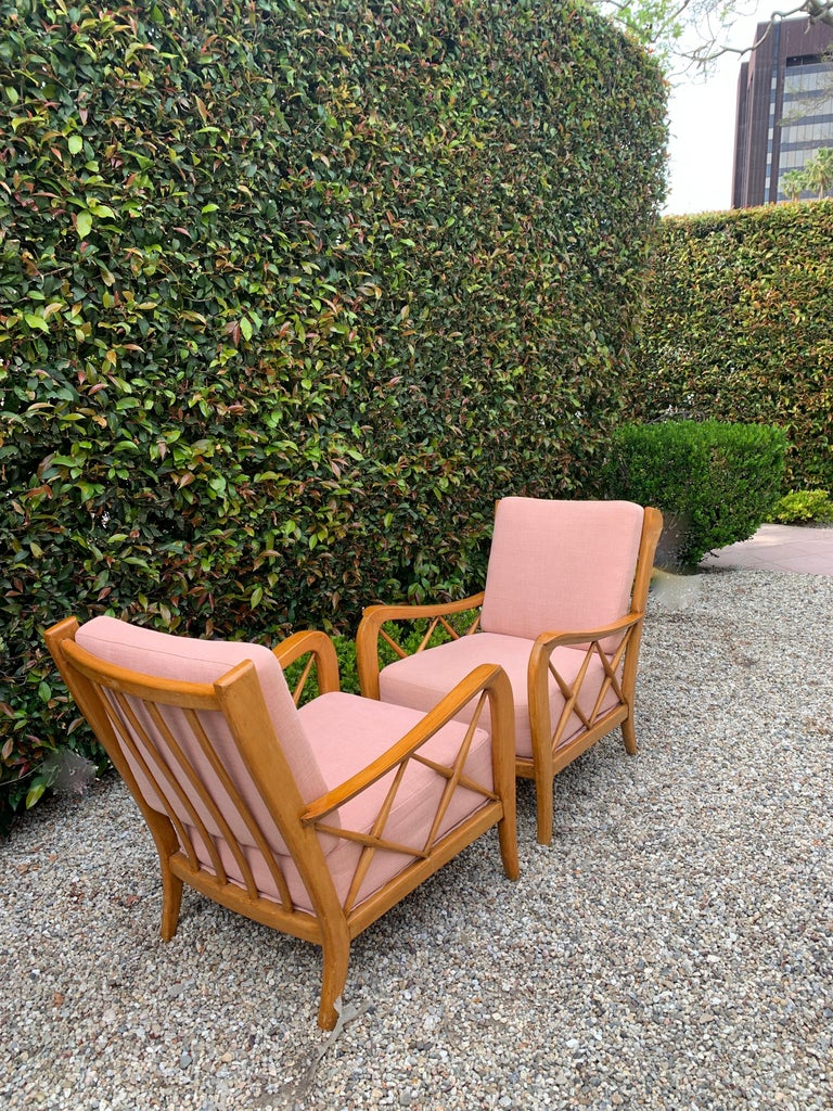 Pair of Italian Lounge Chairs by Paolo Buffa For Sale 3