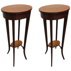 Pair of Italian Mahogany Antique Style Stands