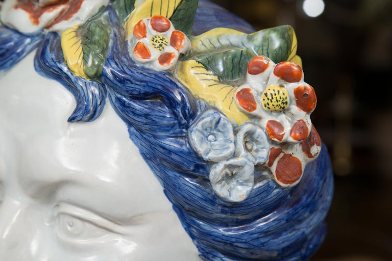 Pair of Italian Majolica Busts 4