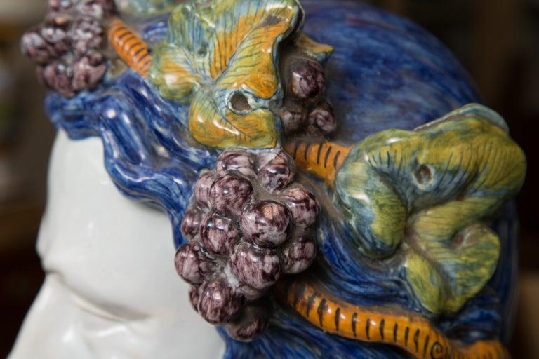 Pair of Italian Majolica Busts 5