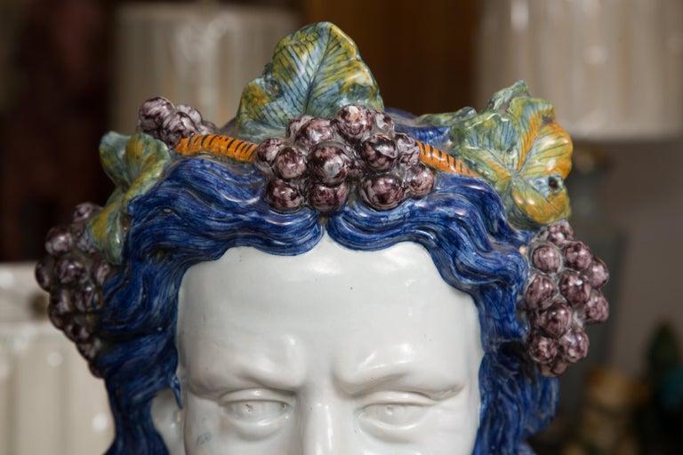 Pair of Italian Majolica Busts 2
