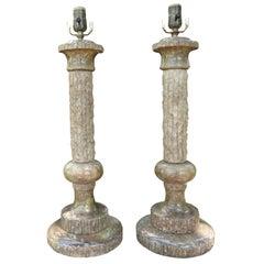 Pair of Italian Marble Lamps