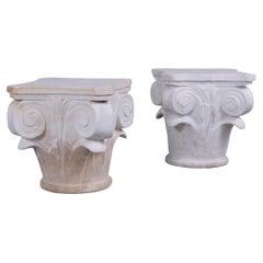 Pair of Italian Marble Urns
