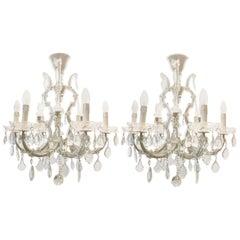 Pair of Italian Maria Theresa Six-Light Chandeliers
