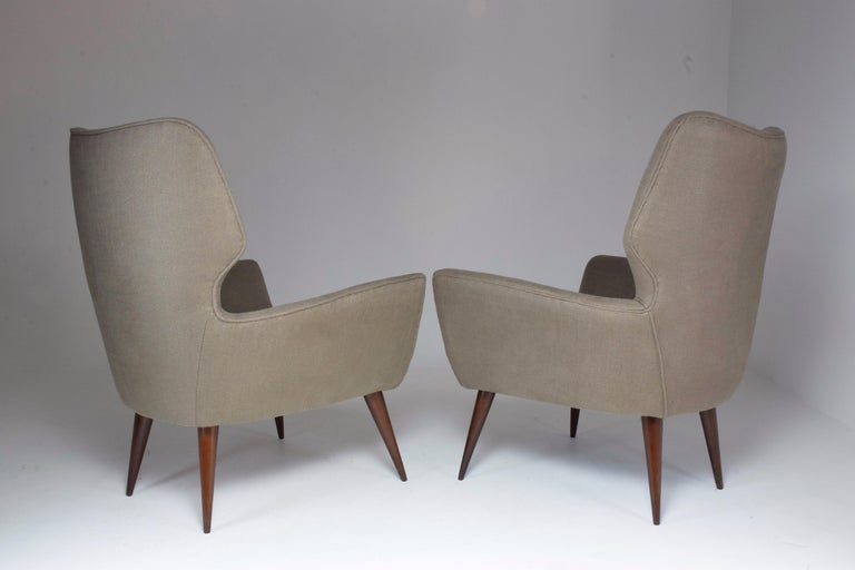Pair of Italian Midcentury Armchairs, 1950s   For Sale 6