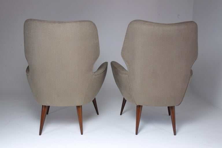Pair of Italian Midcentury Armchairs, 1950s   For Sale 8