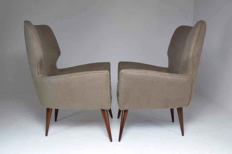 Pair of Italian Midcentury Armchairs, 1950s   For Sale 3