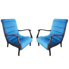 Pair of Italian Midcentury Armchairs by Ezio Longhi