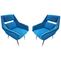 Pair of Italian Midcentury Armchairs by Gigi Radice