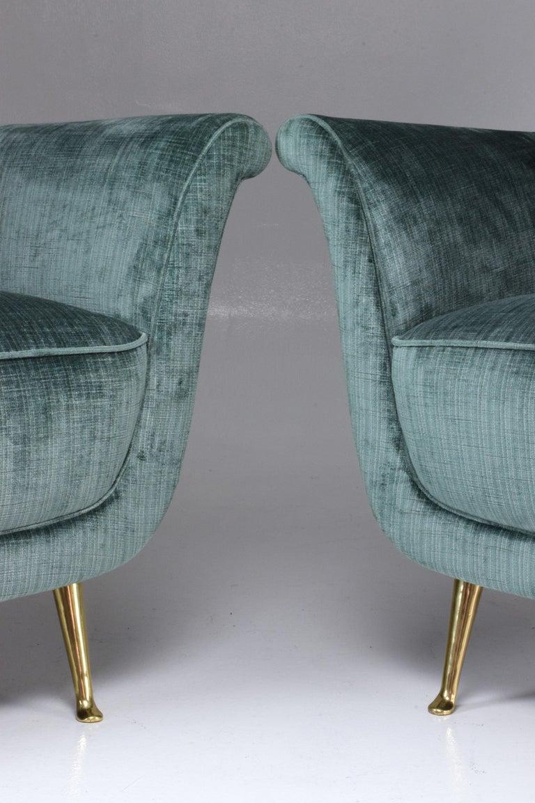 Pair of Italian Midcentury Armchairs by ISA Bergamo, 1950s For Sale 14