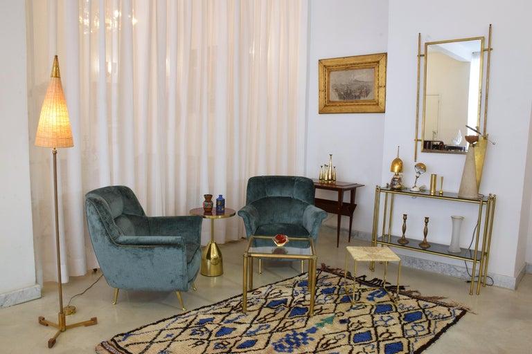 20th Century Pair of Italian Midcentury Armchairs by ISA Bergamo, 1950s For Sale