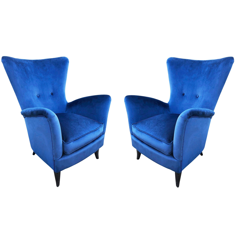 Pair of Italian Midcentury Armchairs in the Manner of Ico Parisi