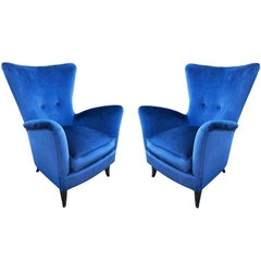 Pair of Italian Midcentury Armchairs in the Manner of Ico Parisi