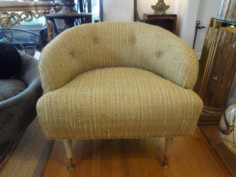 Pair of Italian Midcentury Lounge Chairs Inspired by Gio Ponti For Sale 5