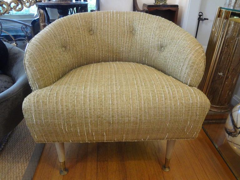 Mid-Century Modern Pair of Italian Midcentury Lounge Chairs Inspired by Gio Ponti For Sale