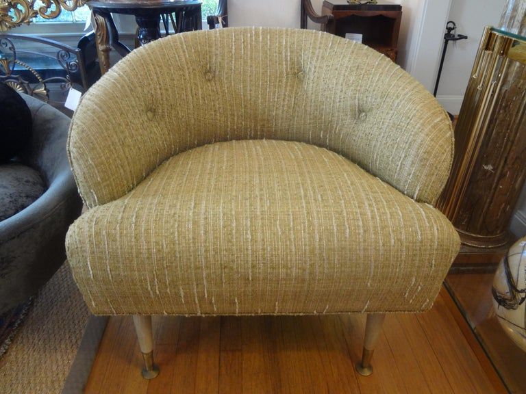 Pair of Italian Midcentury Lounge Chairs Inspired by Gio Ponti In Good Condition For Sale In Houston, TX