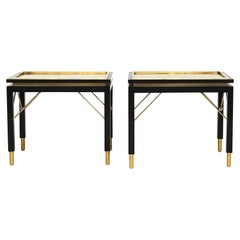 Pair of Italian Midcentury Brass Side Tables