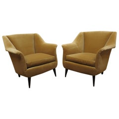 Pair of Italian Midcentury Club Chairs Carlo De Carli