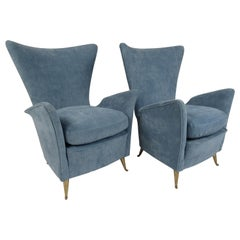 Pair of Italian Midcentury I.S.A Bergamo Style Lounge Chairs