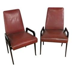 Pair of Italian Mid-Century Modern Armchairs
