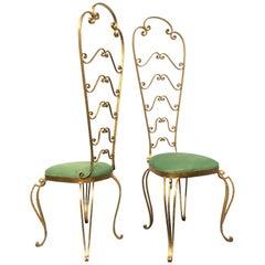 Pair of Italian Mid-Century Modern Luigi Colli Vanity Chairs, 1950s