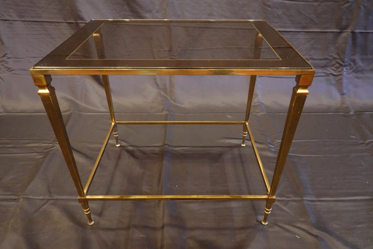 Pair of Italian Mid-Century Modern Side Tables with Glass and Mirrored Tops In Good Condition For Sale In Charleston, SC