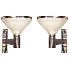 Pair of Italian Mid-Century Modern Wall Lights by Sergio Mazza for Artemide