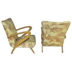 Pair of Italian Mid-Century Modern Zanuso Style Boomerang Arm Club Chairs