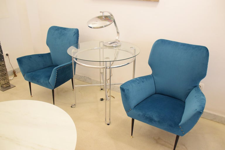 Pair of Italian Mid-Century Vintage Armchairs, 1950s For Sale 7