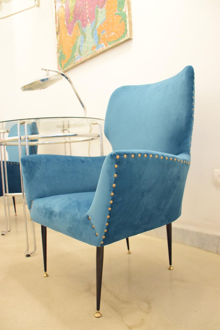 Pair of Italian Mid-Century Vintage Armchairs, 1950s For Sale 10