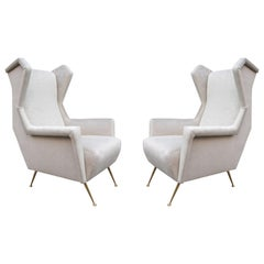 Pair of Italian Midcentury Wing Chairs