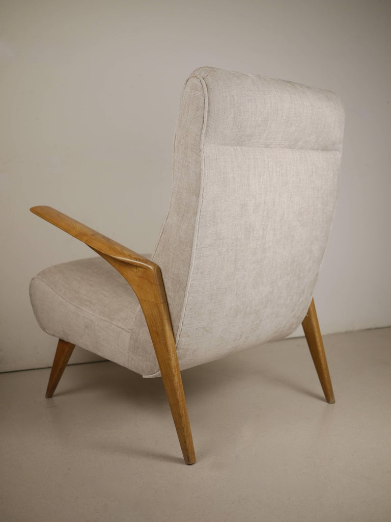 Pair of Italian Midcentury Armchairs, 1950 In Excellent Condition For Sale In Madrid, ES