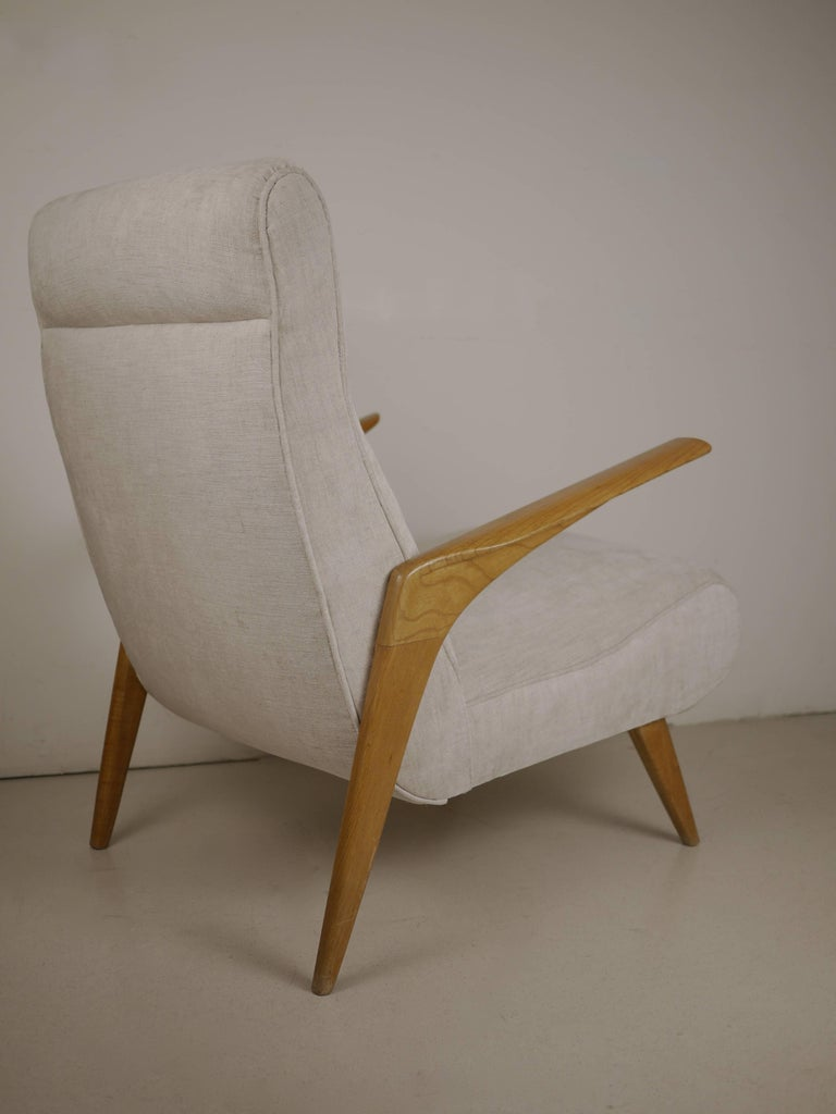 1950s Pair of Italian Midcentury Armchairs, 1950 For Sale