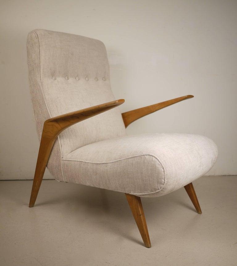 Pair of Italian Midcentury Armchairs, 1950 For Sale 1
